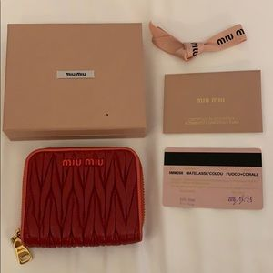 Miu Miu Red Card Wallet